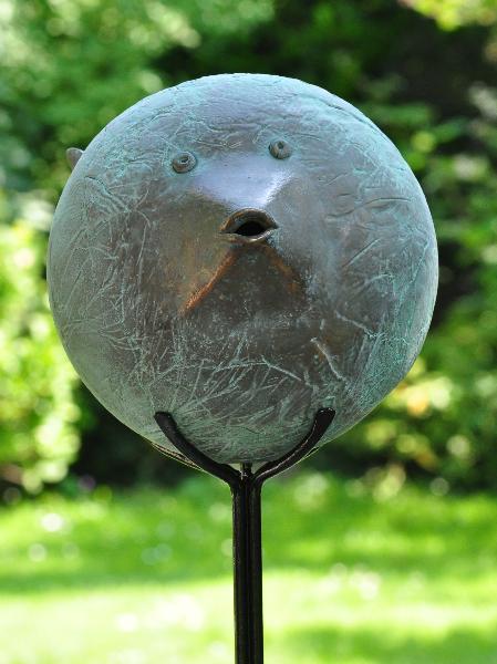 grote-bolle-vis-brons. Verkocht